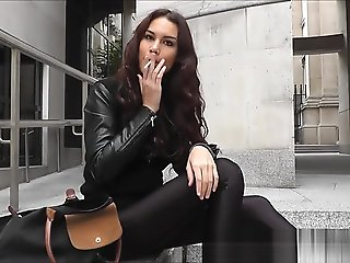 smoking, hd, solo female, straight, ,