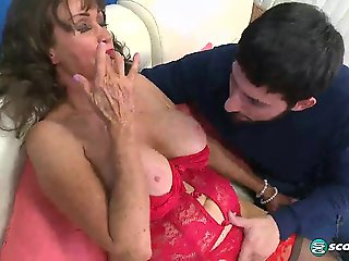big tits, big ass, fingering, granny, lingerie, mature