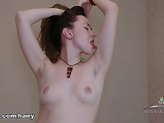 hairy, brunette, high heels, masturbation, small tits, solo female