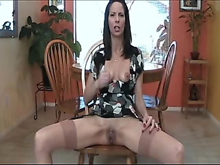 joi, milf, dirty talk, pantyhose, girl masturbating,