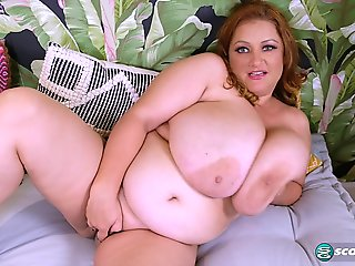 big ass, bbw, big tits, masturbation, milf, red head